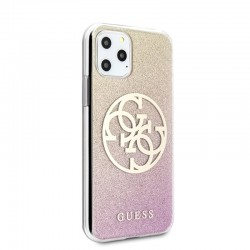 ETUI GUESS GRADIENT CIRCLE GLITTER IPHONE 11 PRO ROSE GOLD